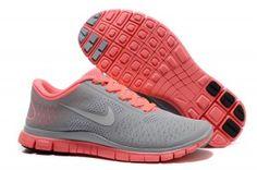 Nike Free 4.0 V2 Mujer Gris Rosa Zapatillas Comprar - Zapatillas Nike Free Baratas Online