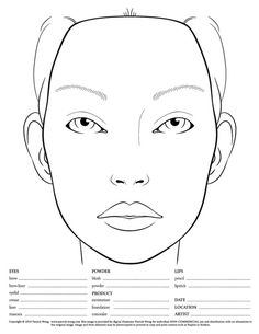 Face Chart- This will be better using a child's face if it is for elementary school
