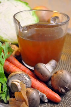 Homemade vegetable stock - keep vegetable scraps in a container in the freezer - when the containers full put the scraps in the crockpot overnight with water. Healthy and frugal!
