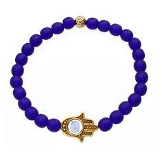 Hamsa Hand Bracelet      #etsy #jewelry #blue #cobalt #gold #homemade #handmade #accessories