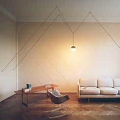 Flos String Pendant Lamp - Sphere Head