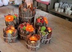 Enjoy the autumn colors with spectacular DIY decoration ideas .- Genießen Sie die Herbstfarben mit spektakulären DIY Deko Ideen – Beste Dekoideen Enjoy the autumn colors with spectacular DIY decoration ideas – best decoration ideas - Thanksgiving Decorations, Christmas Decorations, Christmas Candles, Diy Thanksgiving, Table Decorations, Autumn Decorations, Flower Decorations, Christmas Centerpieces, Diy Flowers