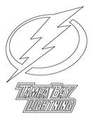 Tampa Bay Lightning Logo coloring page from NHL category. Select from 31983 printable crafts of cartoons, nature, animals, Bible and many more.