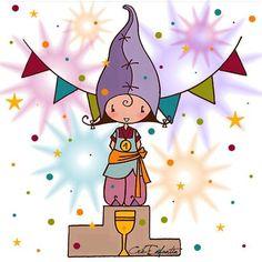 Lutine victorieuse ! Mars 2012  Illustration réalisée pour les 5 ans du blog Cré-Enfantin.  http://creenfantin.canalblog.com/archives/2012/03/10/23724836.html