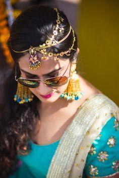 Matha patti - Gold Matha patti for Mehendi | WedMeGood #wedmegood #mathapatti
