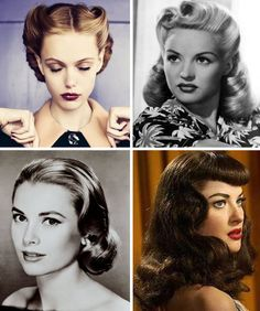50s hair...love all of it except for the bottom right one. :)