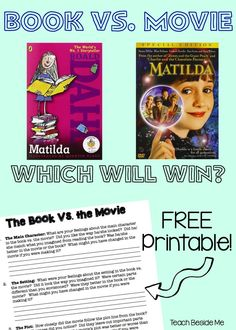 Matilda: Book Vs. Movie - Teach Beside Me