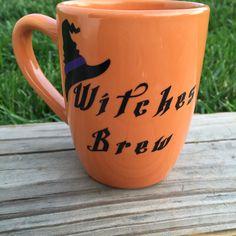 Witches Brew Custom Coffee Mug by KrystlesCraftCloset on Etsy