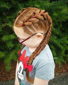 Pull-through braid. Braids for kids. Pull-through braid. Braids for kids. Childrens Hairstyles, Cute Hairstyles For Kids, Kids Braided Hairstyles, Box Braids Hairstyles, Little Girl Hairstyles, Korean Hairstyles, Kids Hair Bows, Hair Kids, Kid Hair
