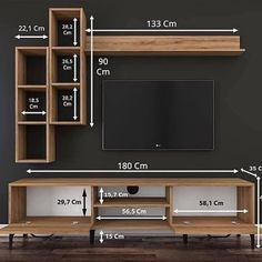 Make woodworking projects with step by step plans! ⚒ - Over Woodworking Plans - With CAD/DWG software to view/edit plans - Step-by-… Tv Cabinet Design, Tv Wall Design, Woodworking Plans, Woodworking Projects, Wood Projects, Woodworking Videos, Woodworking Software, Lathe Projects, Tv Unit Furniture Design