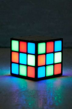 Flashing Lights Wireless Cube Speaker - Urban Outfitters