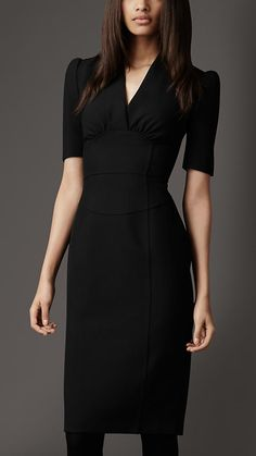 Structured Pencil Dress in Black - Article 38225231