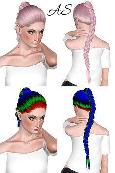 Alesso`s Apple hairstyle retextured by Chantel Sims for Sims 3 - Sims Hairs - http://simshairs.com/alessos-apple-hairstyle-retextured-by-chantel-sims/