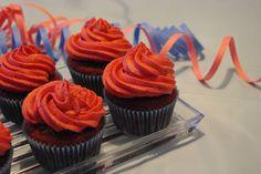 Schoko-Cupcakes mit Vanilletopping