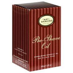 The Art of Shaving Pre-Shave Oil, Sandalwood Essential Oil, for All Skin Types, 2 fl oz (60 ml) by Art of Shaving, http://www.amazon.com/dp/B000FGTTTM/ref=cm_sw_r_pi_dp_wZIYrb0SWMHJE