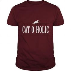 Cat-O-Holic - #unique t shirts #street clothing. GET YOURS => https://www.sunfrog.com/Funny/Cat-O-Holic-Maroon-Guys.html?60505
