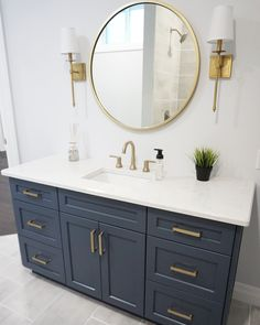 A home remodel project is a great way to spruce up your home and add a feeling of newness to the space. The bathroom is the perfect place to begin your home remodel process. It's one of the smaller rooms… Continue Reading → Diy Bathroom Remodel, Bathroom Renos, Shower Remodel, Basement Bathroom, Bathroom Renovations, Bathroom Storage, Bathroom Interior, Bath Remodel, Bathroom Ideas