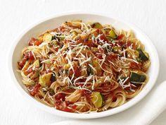 Capellini With Spicy Zucchini-Tomato Sauce Recipe : Food Network Kitchen : Food Network - FoodNetwork.com