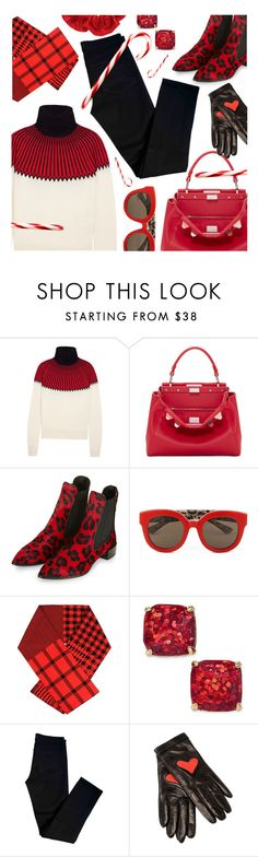 """""""Holiday Fashion & Treat"""" by stacey-lynne ❤ liked on Polyvore featuring Chloé, Fendi, Topshop, Dolce&Gabbana, Barbara Bui, Kate Spade, J Brand and Boutique Moschino"""