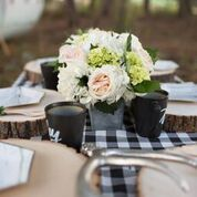 One Stylish Party Brittany Gidley Photography Wood Wedding Decorations, Vintage Wedding Theme, Wedding Ideas, Tree Slices, Branch Decor, Wood Slab, Wedding In The Woods, Party Events, Camper