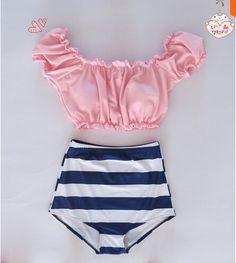 XS-2XL 2016 Sexy Plus Size mermaid Swimsuit High Waist Bikini Shell Bra Women Push Up swimwear maillot de bain Biquini Monokini  http://www.aliexpress.com/store/group/High-Waist-Bikini/1470435_506727416.html