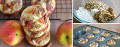 Muffins de durazno y avena con cobertura de azúcar y canela | La Bioguía