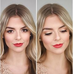 bold lips bridal makeup red lips blonde makeup wedding makeup #redlips #bridalmakeup #wedding #bride #boldlips