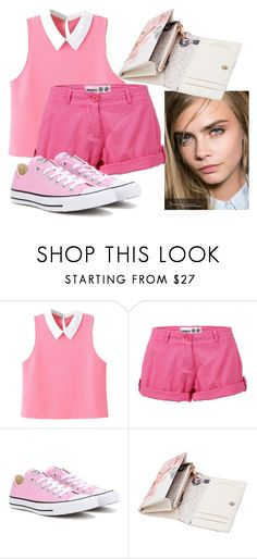"""""""Pretty In Pink"""" by ema123-clxvi ❤ liked on Polyvore featuring WithChic, Musto, Converse and Ted Baker"""