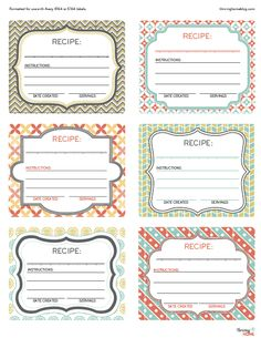 Printable freezer meal labels. Perfect for freezer meal storage or, even better, for when taking meals to someone.