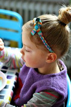 HEDI: Mini-DIY: Wir machen uns schöne Haarreifen mit Webbändern
