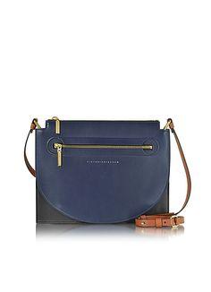Victoria+Beckham+Color+Block+Leather+Moon+Light+Crossbody+Bag