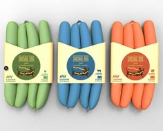 Packaging design for 'Sausage Dog' by Federica Fragapane, Chiara Goose, Andrea Gross Gaiani, Kerman Gomez, Luciano Ingenito