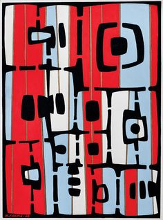 Maria Freire - geometric abstract expressionist