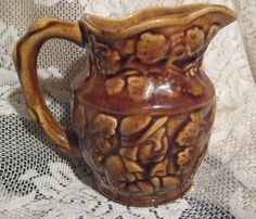 Antique Canuck Pottery Pitcher made in Canada by StarPower99, $18.00