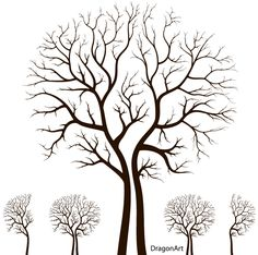Leafless Autumn Tree Design Free Vector   Download Free Vector Art