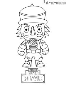 Fortnite Battle Royale Coloring Page Funk Ops Fortnite