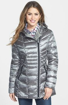 Halogen® Hooded Down & Feather Fill Jacket available at #Nordstrom