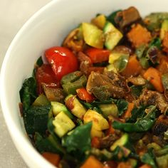 Whip Up This Veggie Scramble For Breakfast. Looks amazing, I can't wait to try it!