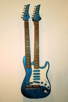 Two Blue art guitar by Mark Dalzell & Eclectric Instruments