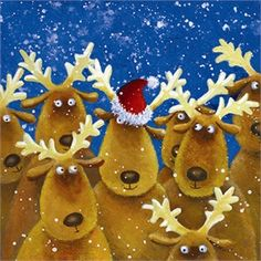 Album 2 « Gallery 13 « Christmas (by category) « Jan Pashley – Illustration / Design Christmas Scenes, Christmas Art, Christmas Humor, Winter Christmas, Reindeer Christmas, Christmas Ideas, Vintage Christmas Images, Christmas Pictures, Charity Christmas Cards