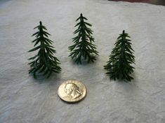 Vintage Plastic Pine Trees 6 by papertales on Etsy, $2.25
