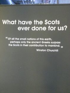 What have the Scots ever done for us?
