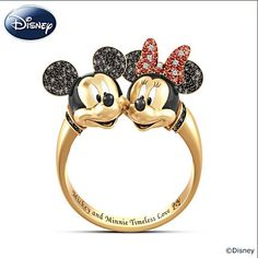 """Disney Mickey Mouse And Minnie Mouse """"Timeless Love"""" ring"""