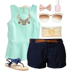 Preppy summer outfit