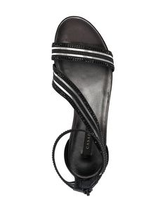 Shop Casadei crystal-embellished leather sandals with Express Delivery - FARFETCH Leather Sandals, Open Toe, Women Wear, Black Leather, Delivery, Crystals, Fashion Design, Shopping, Open Toe Shoes