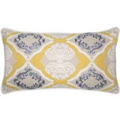 SA Silba Pillow in Citrus & Multi-Color design by Villa Home (£59) ❤ liked on Polyvore featuring home, home decor, throw pillows, pillows, multi color throw pillows, colorful home decor, villa home collection, colorful throw pillows and multi colored throw pillows