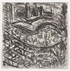 Leon Kossoff King's Cross Building Site Early Days, 2003 charcoal on paper 22 3/8 x 22 1/8 in. (57 x 56.2 cm)