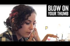 She Made A Habit Of Blowing On Her Thumb. The Reason Why? This Is So Effective!