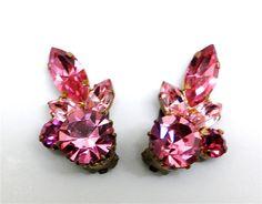 Spectacular Austrian Crystal Earrings. by JewelryOnVintageLane, $34.00