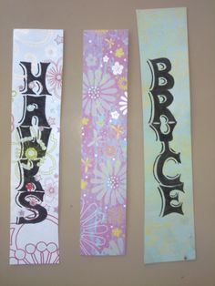 Bookmarks made out of double card stock.